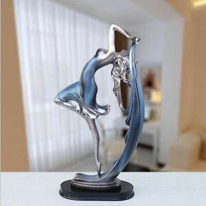 New Resin Dancing Girl Statue Figurine Decorative Sculpture Tabletop Ornament