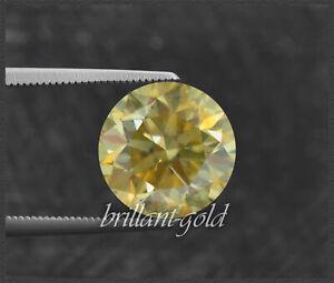 Diamant Brillant Farbe vivid yellow 1,8 mm, natürliche Farbe; echte Diamanten