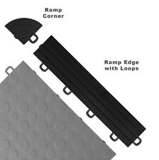 Garage Floor Tiles Ramp Edges Interlocking Black Mats Best Basement Flooring