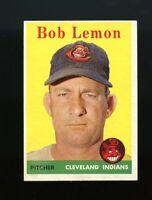 1958 Topps BB Card # 2 Bob Lemon Cleveland Indians NM-MT OR BETTER