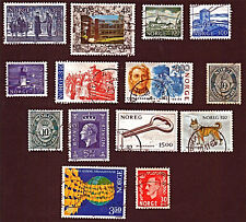 NORWAY, 14 1951-88 Europa (CEPT), Buildings, Dogs +Stamps, Used, SeeDescr FUS656