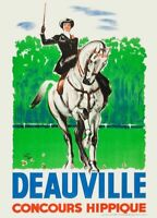 225807 DEAUVILLE CONCOURS HIPPIQUE French GLOSSY POSTER  AU