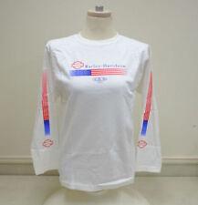 "Harley-Davidson Women's L/S White ""faded glory"" flag shirt Medium RUNS BIG"