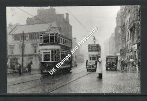 Trams & Vintage Vehicles At Top Of Union Street Dundee c1953 Postcard Size Photo