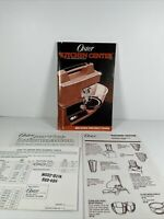 Oster Regency Kitchen Center Food Processor MANUAL with Recipes and Instructions