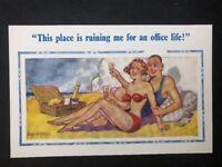 Vintage Postcard: Artist Signed: Donald McGill #A509: Beach No 2141