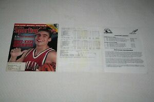 WALLY SZCZERBIAK * 1998 Sporting News + Media Box Score * 1999 Miami Redhawks