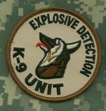 Desert Storm Gulf War Trophy Ssi Épaule Manche Insignes: Eod K-9 Unit