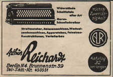 BERLIN, Werbung / Anzeige 1940, Arthur Reichardt Morse-Schnellschreiber