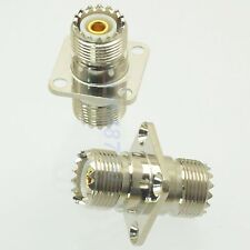 1pce Adapter UHF female to SO239 jack 25.4mm flange panel mount RF connector F/F