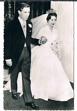 POSTCARD ANTHONY ARMSTRONG JONES AND PRINCESS MARGARET RP 1960 NO PUBL CARD 771