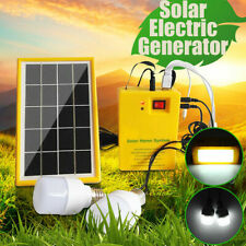 Solar Power Panel Generator System LED Light Lamp 5V USB Charger Outdoor Camping