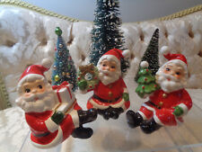 Napco Christmas Santa shelfsitter figurines Set (3) #8393