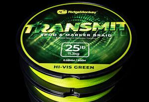 RidgeMonkey Transmit Spod and Marker Braid 0.28mm / 25lb / 11.3kg FIshing  *New*