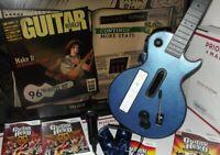 2 Game & Microphone Guitar Hero GIBSON Controller World Tour bundle Nintendo Wii