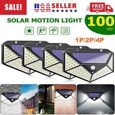 100 LED PIR Motion Sensor Solar Power Garden Light Outdoor Yard Lamp Waterproof