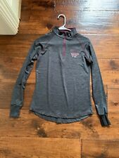Colosseum Virginia Tech Gray 1/4 Zip Shirt in Mens Size Small