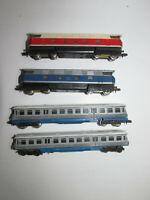 Piko 2 Diesellokomotiven 118059-5 blau rot + 2-teiliger Dieseltriebwagen Spur N