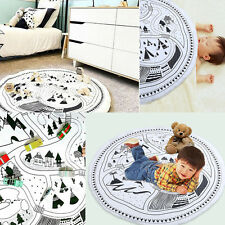Cosy Soft Cotton Play Rug Carpet Game Mat Baby Crawling Blanket For Infant Kids