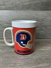 Denver Broncos Vintage Plastic Mug NFL 1976 Thermo Serv Retro