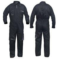 Black Work Wear Men's Overalls Boiler Suit Coveralls Mechanics Protective