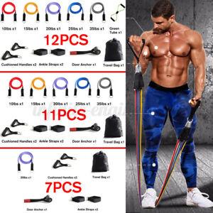 12Pcs Set Resistance Bands Workout Exercise Yoga Crossfit Fitness Training  ¿