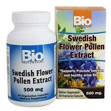 Bio Nutrition Swedish Flower Pollen Extract 500 mg 60 Vegetarian Capsules