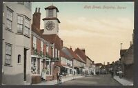 Postcard Steyning nr Worthing Sussex early view of clock tower in High Street
