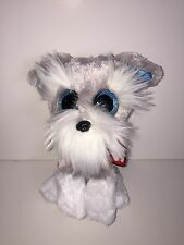 "TY WHISKERS SCHNAUZER 6"" BEANIE BOOS-NEW, MINT TAG *ORIGINAL VERSION-RETIRED,HTF"