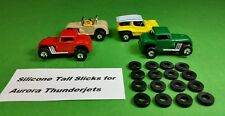 "Aurora Model Motoring Tjet HO Slot Car ""Tall"" Silicone Slick Tires 16 piece Lot"