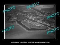 OLD LARGE HISTORIC PHOTO HELLEVOETSLUIS NETHERLANDS TOWN AERIAL VIEW c1940 4