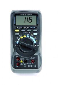 Kewtech KT116 Digital 600V & 10A AC/DC & Temperature Multimeter
