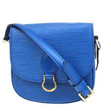 Auth LOUIS VUITTON Mini Saint Cloud Shoulder Bag Epi Leather Blue M52215 61V439