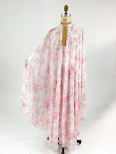New listing Best! Vtg 1970s Sheer Rose Print Kaftan Caftan House Hostess Dress M L