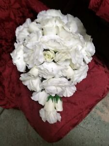 Sale $25 LARGE WEDDING BOUQUET WHITE OR ANY COLOR WITH BOUT RUSH ORDERS Availabl