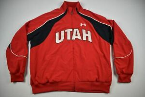 Utah Utes Under Armour Jacket Men's Red Poly Used Multiple Sizes