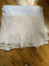 Pottery Barn Powdered Blush Pink Bedskirt Queen Pleated Pin tucked