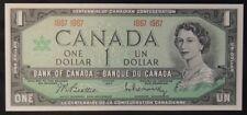 BANK OF CANADA - 1967 $1 Note - 1867 1967 - Signed Beattie & Rasminsky - NCC