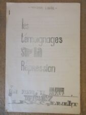 MAI 1968 LE CENSIER LIBRE TEMOIGNAGES SUR LA REPRESSION ETUDIANTS CRS POLICE