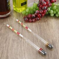 Perfect Gift!1X 3 Scale Hydrometer Alcohol Meter for Home brew Wine Beer Cider