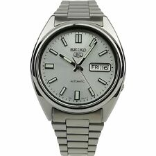 Seiko 5 Automatic Silver Dial Silver Stainless Steel Men's Watch SNXS73K1 USED