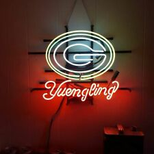 """Green Bay Packers Yuengling Neon Lamp Sign 20""""x16"""" Bar Light Beer Glass Display"""