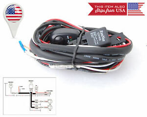 ON/OFF  Switch 12V 40A Fuse Relay Wiring Harness For VW Porsche Driving Light