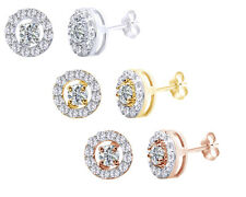 1/2 Ct Round Interchangeable Round Diamond 18K Gold Over Stud Earrings $335.24
