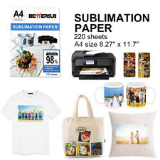220 Sheets A4 Dye Paper Sublimation Transfer Paper Iron On Mug Cotton Polyester