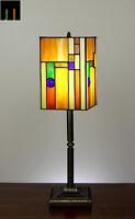 Tiffany Lantern Stained Glass Bedside Side Table Desk Lamp Light Leadlight Deco