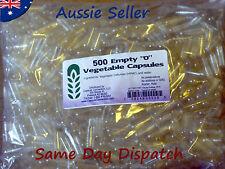 500 size 0 empty clear veg caps ~Capsule Connection High Quality Vegetable caps~