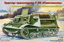 1/35 T-20 Komsomolets Soviet WW2 armored tractor model kit