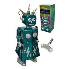 "ELECTRA ROBOT 5.5"" Saint John Wind Up Tin Toy Collectible Retro Outer Space Girl"