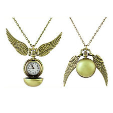 Harry Potter Snitch Watches Necklace Steampunk Quidditch Pocket Watch Pendant